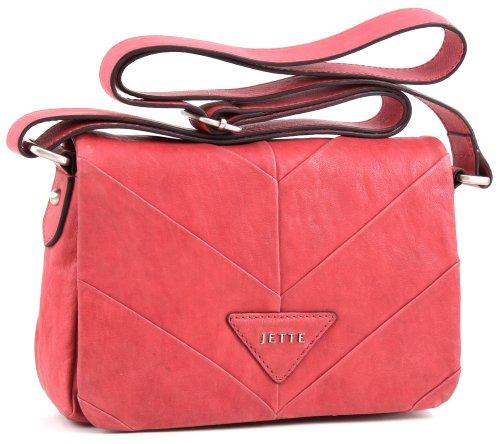 JETTE Mrs. Stevens small Shoulder Bag 4030001013, Damen Schultertaschen, Rot (light red 301), 22x15x6 cm (B x H x T)