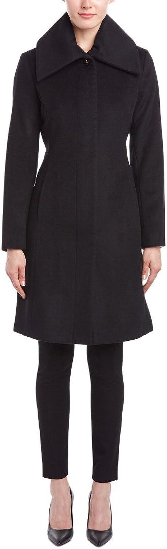Cole Haan Womens Slick Wool Classic Snap Front Coat