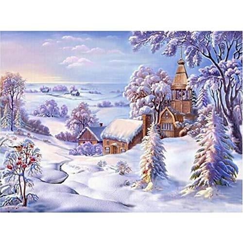Puzzle de 1000 Piezas para Adultos 50x75cm Escena de Nieve de Invierno Difícil y Desafiante Juguete Grande Educativo El Alivio del Estrés uguete para Adultos Niños