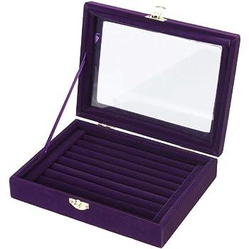 Homeofying - Caja de almacenamiento con tapa de cristal con separador y compartimentos: Amazon.es: Belleza