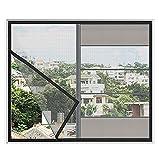 Cortina de pantalla magnética: Mosquitera de malla de malla de ventana de fibra de vidrio autoadhesiva, Material de pantallas de ventana de repuesto, Mantiene los insectos / mosquitos afuera, Adecuad