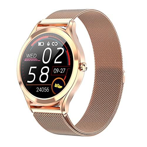 BNMY Smartwatch Pantalla De 1,3 Pulgadas Reloj Inteligente Impermeable IP67 con Pulsómetros para Mujer Hombre, Pulsera De Actividad Inteligente con Monitor De Sueño Contador De Caloría Cronógrafo,A