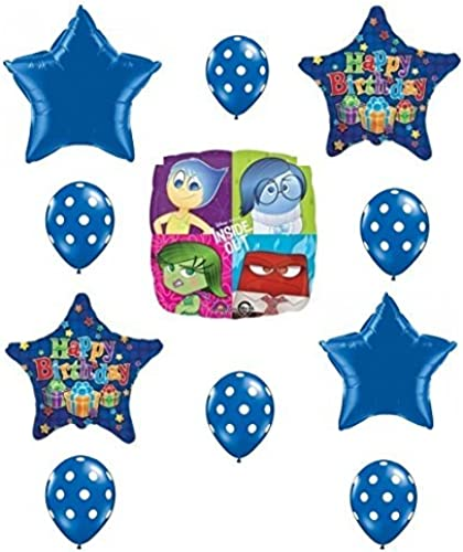 Inside Out Sadness Is the Hero  Happy Birthday Balloon Set by Party Supplies by Party Supplies