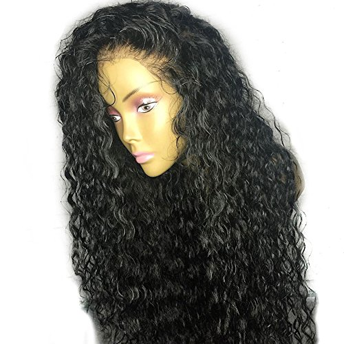Perruque Femme Naturelle 100% Cheveux Humains Bresiliens Ondulé Deep Wave - Lace Front Frontal Wig Naturel Human Hair (Densité: 180%),26Inch