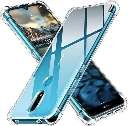 ivoler Funda para Nokia 2.4, Carcasa Protectora Antigolpes Transparente con Cojín Esquina Parachoques, Flexible Suave TPU Silicona Caso Delgada Anti-Choques Case Cover