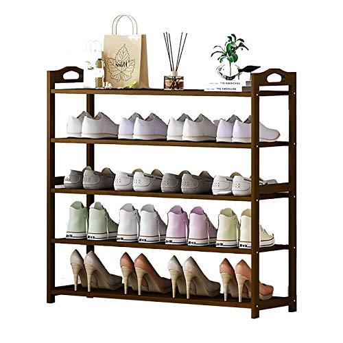 Zapatero Altos para Entrada, Largo 50/69/79/90/100 cm - Unidad Organizadora de Almacenamiento de Zapatos Portátil Simplicity con Asa (Color : 5 Tier, Size : 90×24×87cm)