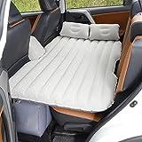 Matelas Gonflable Lit de Voiture, Coussin Gonflable pour Matelas, sièges d'auto Multifonctionnel avec Pompe à air et Oreillers (Gris)
