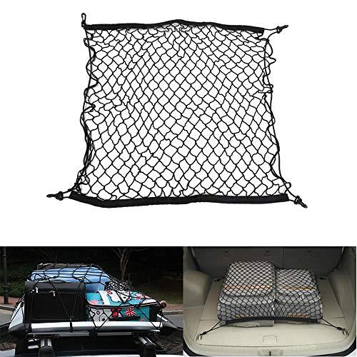JunFeng Red de carga negra, red de nailon para carga fija, coches, camiones, camionetas, transporte de equipaje, red de protección para mascotas
