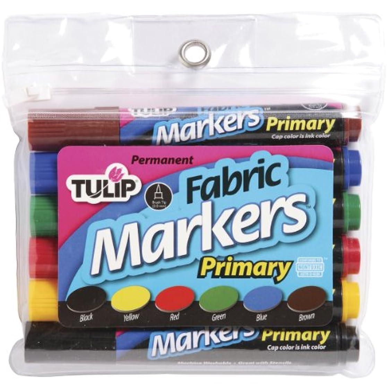 Duncan Tulip Fabric Markers Large 6/pkg-primary
