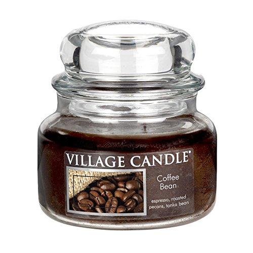 Village Candle Bohnenkaffee kleine Duftkerze im Glas, 312 g, braun, 9.7 x 9.5 cm