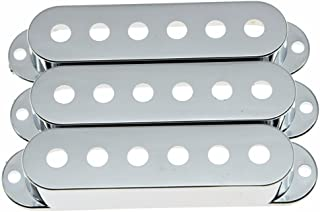 Dopro 52/52/52mm Chrome Plastic ST Strat Guitar Pickup Covers 3 Single Coil Pickup Cover for Stratocaster