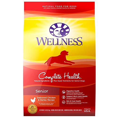 Wellness Natural Pet Food Super5Mix Dry Dog Food, Just for Seniors Recipe , 15-Pound Bag