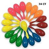 24 Pack Maracas Kids - Mini Plastic Maracas Party Favors - Neon Mexican Maracas Shakers No...