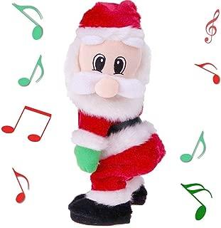 Yansanido Twerking Santa Claus - Twisted Hip, Singing and Dancing Electric Toy, Twisted Hip Santa Claus Figure Christmas Santa Claus Christmas Xmas Gift for Kids