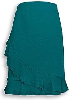 Isaac Mizrahi Live! Women's Shorts Size M Pebble Knit Wrap Skort Green A306756