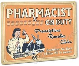 Placa Decorativa de Metal con diseño de Farmacia de la Marc