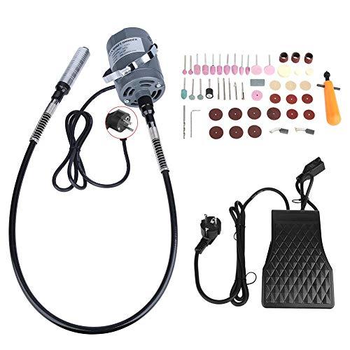 Amoladora de eje flexible, 53 pcs/set Kit de herramienta múltiple rotativa mini Kit de amoladora de eje flexible giratoria eléctrica Amoladora de eje de velocidad variable