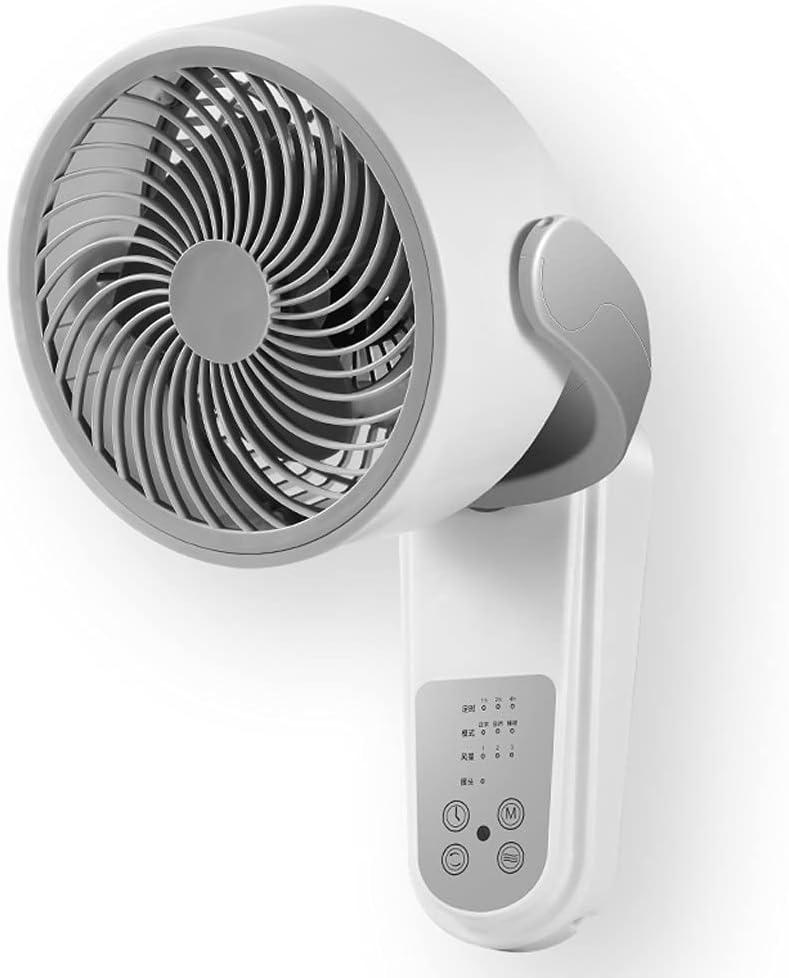 SHIJIANX Ventiladores de Pared Silenciosos-Ventilador de circulación de Aire, Ventilador eléctrico doméstico, Ventilador de Control Remoto montado en la Pared sin Perforaciones, sin ocupar Espacio