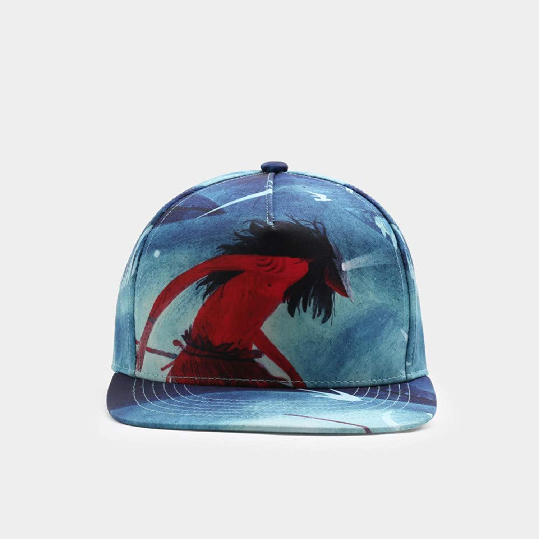 JKYJYJ Snapback Hats Men Women Couple Baseball Cap Bone Original Design 3D Printing Caps Cotton Breathable Sunshade