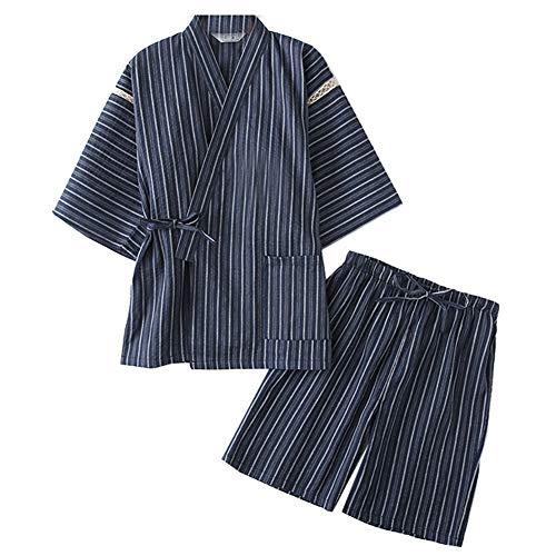 Fancy Pumpkin Sommermänner Kimono-Pyjama-Anzug-Umkleidungs-Kleid-Set-Größe XL des japanischen im japanischen Stil
