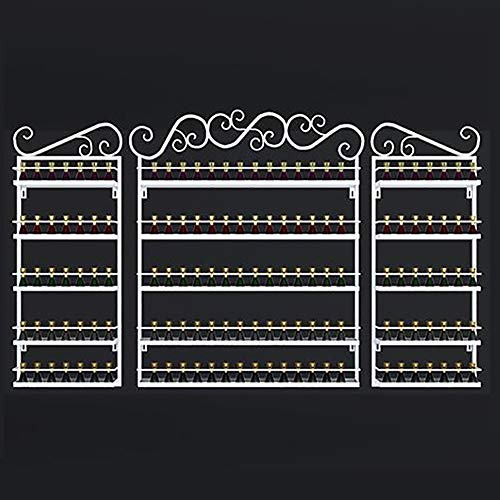 5 éTages MéTal Vernis à Ongles ÉCran Support,Pour Rouge à LèVres Vernis à Ongles Support De Rangement, Pour Huiles Essentielles Nailpolish Stockage Support Femme Cadeau,White-Three-piece