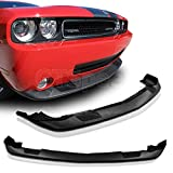 GT-Speed - SRT Style PU Front Bumper Lip - Compatible With 2008-2010 Dodge Challenger Factory Bumper