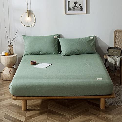 Zachte, verkoelende, ademende onderplaten,Katoenen bed hoeslakens, antislip beschermingsmat voor slaapkamerappartement Hotel-W_120cmx200cm
