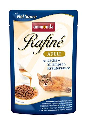 Animonda rafine Adult Gatto Fodera con Salmone e gamberetti in Salsa di Erbe, 1er Pack (1X 1200G)
