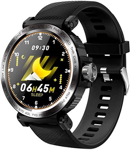 Smart Watch 1.28 pantalla táctil Bluetooth deporte pulsera IP68 impermeable pulsómetro Fitness Tracker pulsera para iOS Android C