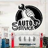 Servizio auto adesivo da parete in vinile servizio auto finestra adesivo in vinile auto per auto murale riparazione pneumatici adesivo in vinile adesivo da parete art deco altro colore 42x37 cm