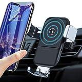 VANMASS Qi Ladestation Auto Handyhalterung Wireless Charger Auto Lüftungs Kfz Handyhalter fürs Auto 10W Qi Ladegerät fast Charge Automatisch für iPhone 12/11/XS/XR Samsung S10/S9/S8 und alle Qi Geräte