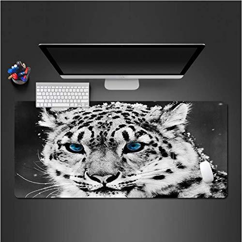 Cool Blue Eye Cheetah Mousepad Computerspeelaccessoires Muismat Hoogwaardige gaming-speelpads Toetsenborden die gamers 30 * 80 cm houden