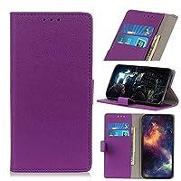 Googleの画素5 XLケースについては、マグネット留めフォリオフリップ財布ケース、PUレザーカードホルダースロット財布ケース耐震電話ケースGoogleの画素5 XL用 (Color : Purple)