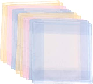10 Stück klassische Taschentücher Plaid Pocket Square Hankies Geschenkset