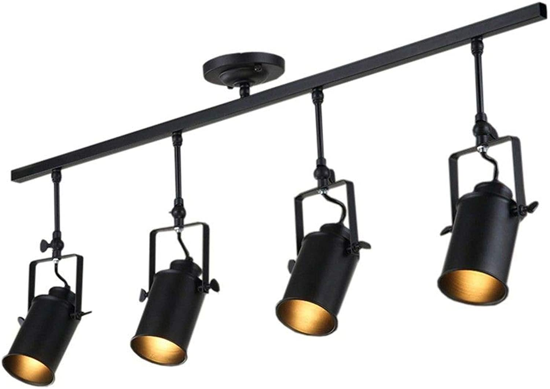 5151BuyWorld Lampe Loft Decke Vintage Licht Kreative Loft 1 2 3 4 Kpfe Track Lampe Tuch Shop Coffee Bar Licht Kleidung Tv Bar Hintergrund Lampe Top Qualitt {Kaltes Wei & 2 Kpfe}