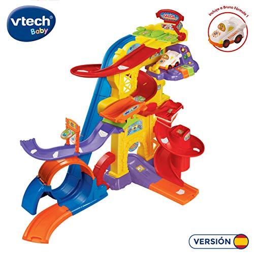 Vtech Super Piste Looping TutTut Bollys, interaktives Playset mit verschiedenen Strecken, Pisten und 360o Drehungen, inkl. Bruno Formel 1 (80-156922) Auto Farbe/Modell Sortiert