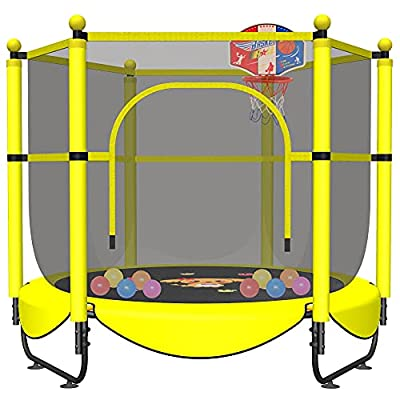 """60"""" Trampoline for Kids Toddler Baby 5 FT Indoor Baby Recreational Trampolines with Enclosure Kids Trampoline for Toddlers Outdoor at Garden & Yard, Gifts for Boy and Girl from VGMiu"""