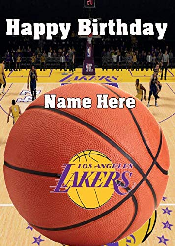 Tarjeta de felicitación de cumpleaños Pnc196 Los Lakers se puede crear para cualquier evento, tarjeta de felicitación A5 personalizable, de Gifts for All 2016 de Derbyshire UK
