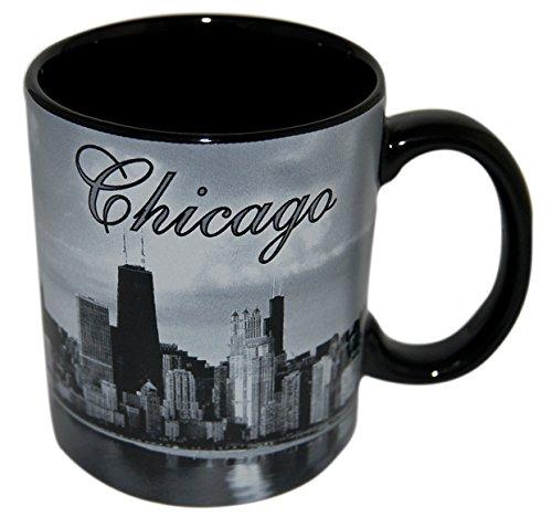 City of Chicago at Night, Skyline Coffee Mug- Made by CityDreamShop.com