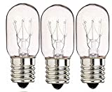 3 Pack 40 Watts Microwave Replacement Bulbs for Most Ge Ovens Replaces Part WB36X10003 40T8 Fits...