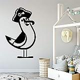 Pájaro etiqueta de la pared arte interior moderno decoración de la pared habitación de los niños mural etiqueta de la pared decoración A1 XL 58x96 cm