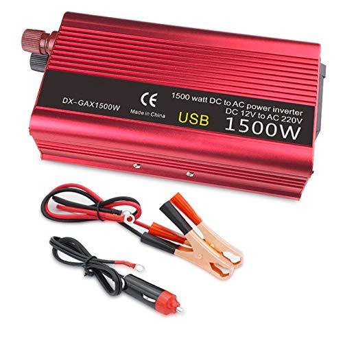 AWYLL Car Power Inverter 1500W DC 12V to AC 110-220V Portable Car Power Inverter Charger Converter Adapter
