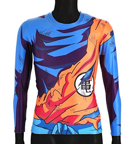 CoolChange Camiseta de Manga Larga de La Bola del dragón Super- Sayaijn, Talla: XL