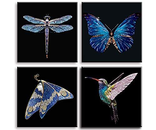 Djeco 599386031/Tableaux /à pailleter Motif papillons