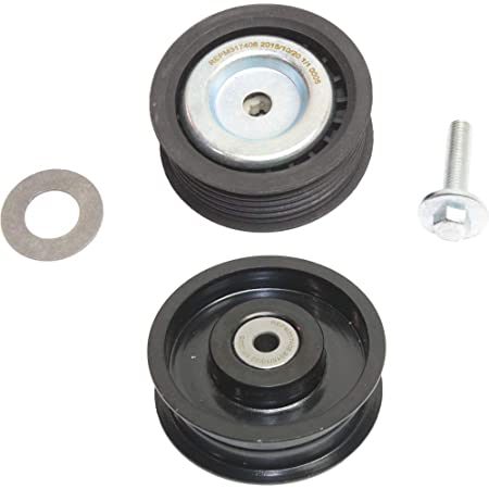 E-Class 06-11 Accessory Belt Idler Pulley for Mercedes Benz C-Class 06-12 ML-Class 08-11 Set of 2 Upper and Lower