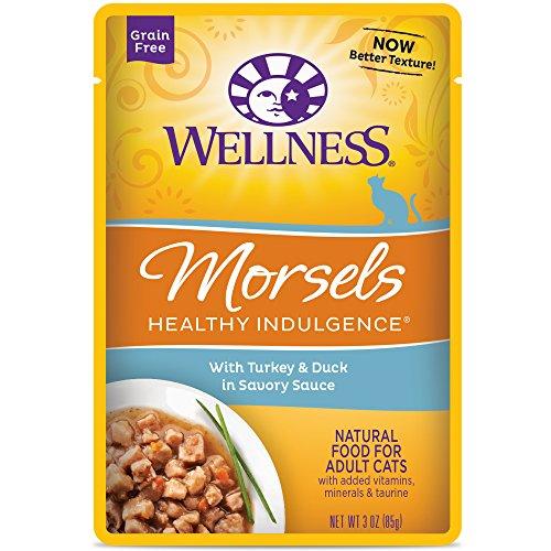 Alimento Húmedo Sin Grano para Gatos Healthy Indulgence Morsels con Pavo y Pato en Salsa Sabrosa Wellness