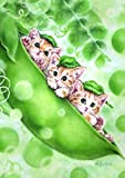 Toland Home Garden Kittens in a Pod 12.5 x 18 Inch Decorative Spring Cute Cat Peapod Garden Flag