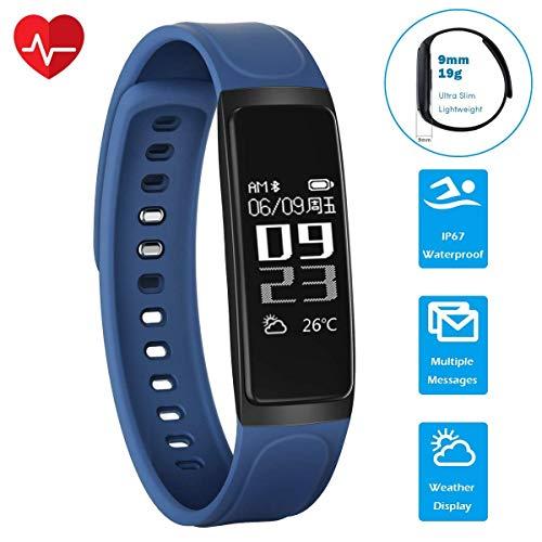CHEREEKI Pulsera Actividad, Monitor de Pulso cardiaco Pulsera ...