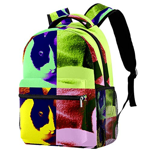 LORVIES Cute Rabbit Backpacks School Bookbags Daypack Bag for Men and Women