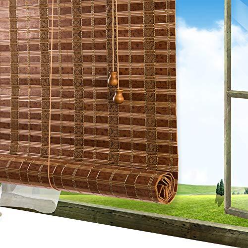 Store Bambou Exterieur QIANDA Venitien Enrouleurs, 80% Ombre Taux Filtrage De La Lumière Écran Privé for Fenêtre Porte Patio Porche Plate-Forme Balcon (Color : A, Size : 60x220cm)